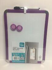"""Pen + Gear Magnetic Dry Erase Board, Magnetic 8.5"""" x 11"""" (Purple) NEW"""
