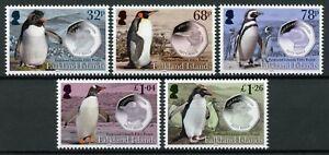 Falkland Islands Birds on Stamps 2020 MNH Fifty Pence Penguins & Coins 5v Set