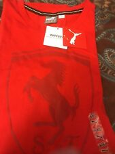 New with tags PUMA Men's Ferrari Big Shield Tee, Rosso Corsa, XX- Large RED