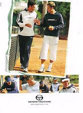 PUBLICITE ADVERTISING 104  2005  SERGIO TACCHINI vetements de sport survetements