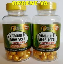 Vitamin E & Aloe Vera 120 Breakable ampoules Natural Aid External Use Skin Face