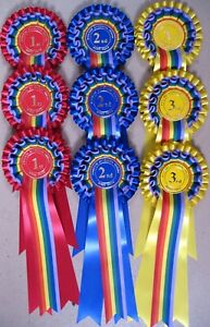 GAY PRIDE rosettes 1st to 3rd x 3 SHOW NAME INCLUDED,