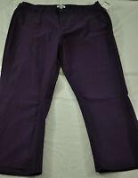 women's d & co dark purple pants size 20WP  five pockets cotton/spandex