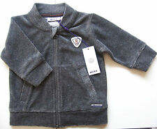 Nicki Jacke Gr.62 Mexx NEU m.E dunkel grau Stehkragen gerippt velour baby
