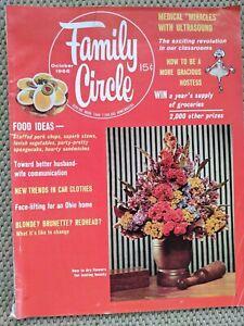 Family Circle Magazine October 1966 Vintage Mid Century MCM Decorating