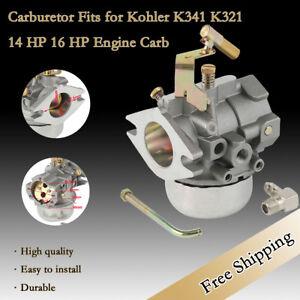 Carburetor Fits for Kohler K341 / K321 14HP & 16HP Engine Replace Carb Cast Iron