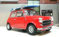Austin Rover Red Mini Classic Cooper Mr Bean Surf Board 1:24 Scale Diecast Model