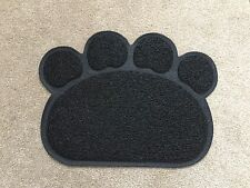 Black PAW Feed Placement Pet Dog Puppy Cat Feeding Mat Pad PVC Dish Bowl Food