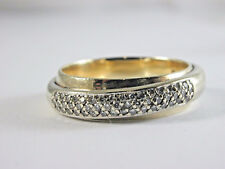 Diamond Overlapped Band Stunning 14ct Yellow gold heavy 7.75 grms