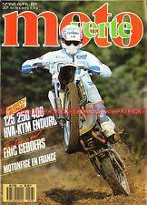 MOTO VERTE 156 HUSQVARNA 125 250 400 WR WRK KTM 350 GS BMW K75 Dakar TOUQUET 87