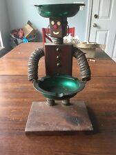 BR39 Vintage Mid Century Bottle Cap RObot Ashtray Folk Art