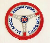 "Vintage National Council Corvette Clubs Embroidered 3"" Patch Chevrolet Chevy Car"