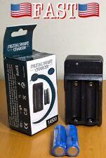 Digital Smart Charger + 2x 14500 Recahrgeable Li-Ion Batteries - NEW!