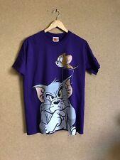 Men's BNWT Tom & Jerry Cartoon Warner Bros Purple Tshirt Medium A2