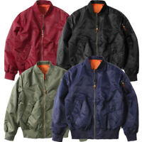 Men MA1 Air Jacket Zipper Army Flight Pilot Bomber Jacket Coat Casual Outwear