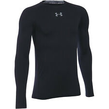 Under Armour Jungen Heizausrüstung Lang Arm SPORTS Training Laufen Tee Top Black