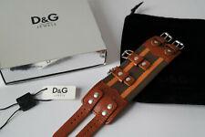D&G Dolce&Gabbana Armband unisex ROUGH DJ0726 Leder Stoff Etikett