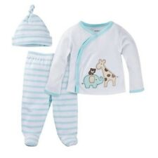 "Gerber 3-Piece Unisex Light Aqua ""Take Me Home' Set Size NB: Baby Clothes Gift!"