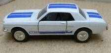 Diecast Majorette Ford Mustang 65 S 1/32 GT 350 White Blue Racing Stripe