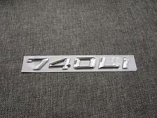 Chrome Trunk Number Letters Emblem Emblems Badge Badges Sticker for BMW 740Li