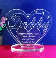 Personalised Heart for Daddy with message, Father's Day, Birthday Gift/Ornament