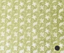 TURTLES ON LIGHT LIME BY LEWIS & IRENE - COTTON FABRIC FQ'S
