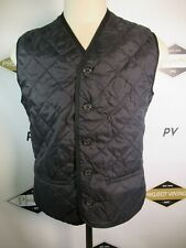 E7635 VTG BARBOUR TAILORED WAISCOAT Button Front Quilted Vest Size L