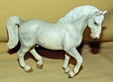SCHLEICH HORSE 2004 GRAY WHITE PRANCING MALE MANE TAIL SILVER HORSESHOES AS IS