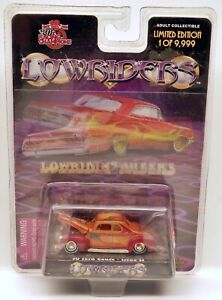 Racing Champions 1940 Ford Coupe LOWRIDERS Orange w/Gold Wheels 1/64 Scale