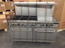 "6 Burner Gas Range 24"" Griddle 2 Full Double Size Standard Ovens 60"" Restaurant"