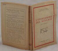 PIERO LEONARDI L'EVOLUZIONE DEI VIVENTI EVOLUZIONISMO ILL PALEONTOLOGIA BIOSFERA