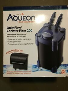 Aqueon QuietFlow Canister Filter 200 GPH, For Aquariums Up to 55 Gallons