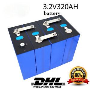 New Lifepo4 320Ah (4PCS) 3.2V Grade A 48V Battery Pack Cell And Solar Free