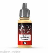 Vallejo Game Color 72.034 Bone White, 17ml Acrylic Fantasy / Wargaming Paint