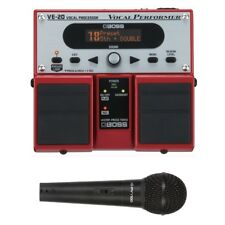 Boss VE-20 Vocal Performer Vocal Processor Twin Pedal + Peavey Mic + Cable
