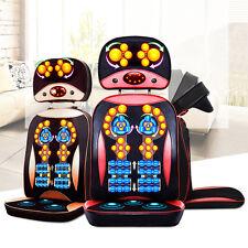 75W Electric Chair Type Massage Body Shiatsu Vibrating Massager Heat Health New.