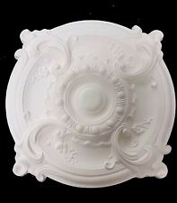 Scirocco Plâtre Rosace Plafond. Largeur 500 mm. Hand Made in the UK, CP5