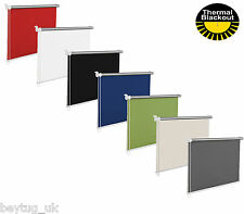 Quality Blackout Window Roller Blinds, Black, White, Red, Blue, Grey in 16 Sizes