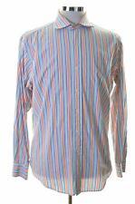 Polo Ralph Lauren Mens Shirt Size 40/42 16 Large Multi Stripes Cotton Classic