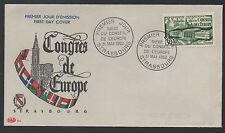 FRANCE / 1952 # 923 CONSEIL DE L'EUROPE SUR ENVELOPPE FDC/ COTE 60 € (ref 4474)