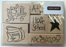 I Love School 6 Rubber Stamps Kids Class Close To My Heart S679 New NRFB