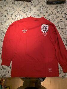Umbro England Away 1966 World Cup Winners Red Shirt