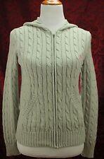 Ralph Lauren Sport Women Jacket Hoodie Cardigan Size M Full Zip Cable Knit