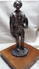 MICHAEL A. RICKER PEWTER SWORD AND SHIELD FIGURINE