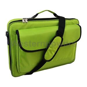 "15.6""16"" 16.4"" 18'' Green Laptop Case Briefcase Bag For HP / Acer / Macbook"