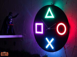PlayStation Icons LED Clock Light Music IR controller/Logo Dualshock,Dualsense