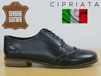 Cipriata Natasha Women's Black Leather Oxford Brogues Smart Casual Shoes