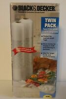 Black & Decker Vacuum Sealing Food Saver VB300 Twin Pack 11in x18ft (2)Rolls NIB
