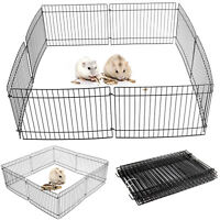 8 Panel Pet Fold Portable Guinea Pig Rabbit /Hamster Garden Play Pen Fence NEW