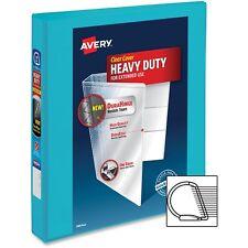 "Avery Durable View Binder w/Slant Rings 11 x 8 1/2 1"" Cap Aqua 17295"